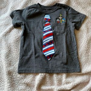 Boys Mickey Tie Shirt